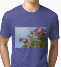 flower in bloom in the garden in spring Tri-blend T-Shirt