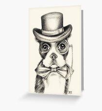 Boston Terrier Gentleman Greeting Card