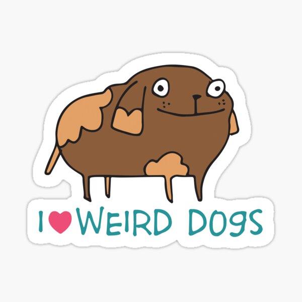 Weird Dogs Sticker