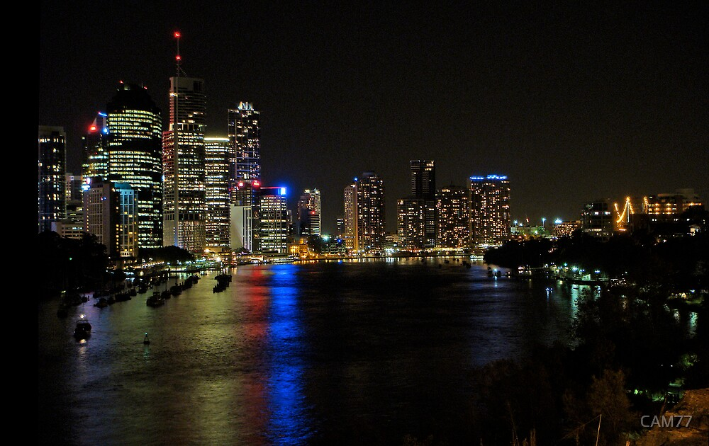Brisbane City at Night by CAM77