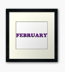 February Amethyst Framed Print