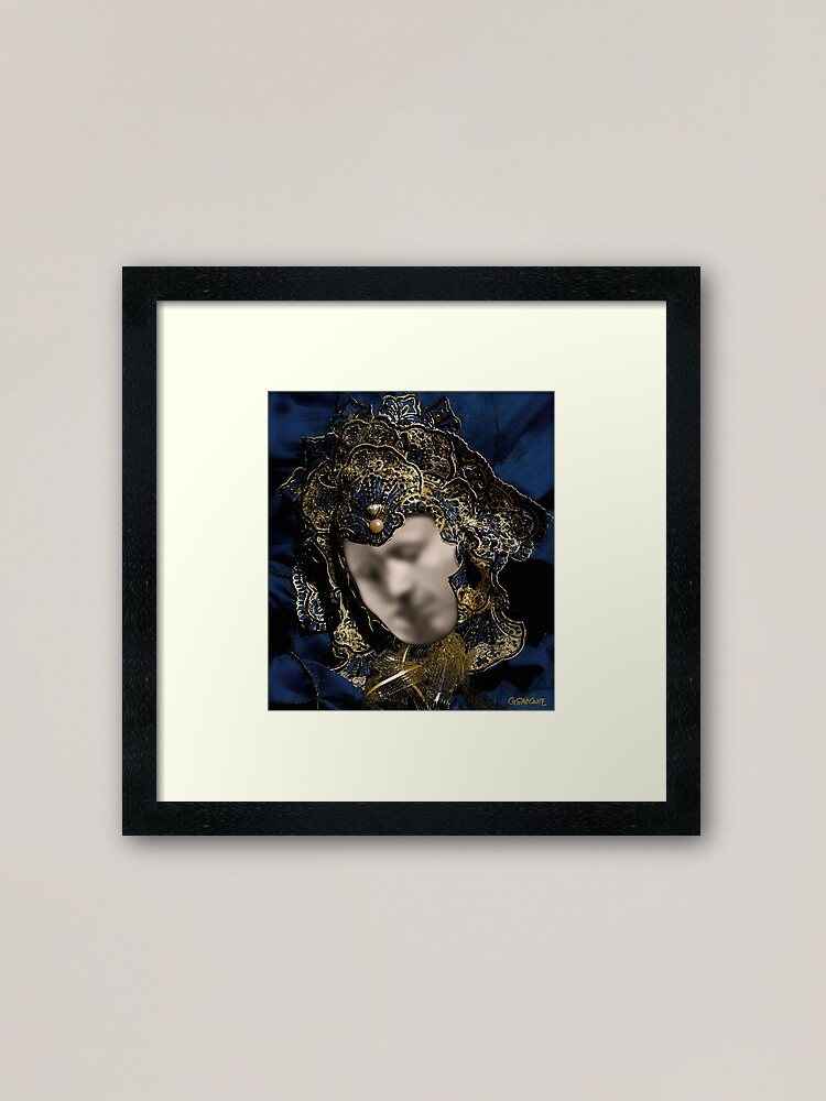 Alternate view of Mask of Love (or The Kiss) Framed Art Print