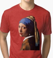 The Girl With A Pearl Earring Tri-blend T-Shirt
