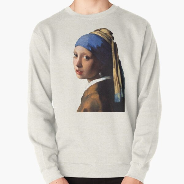 The Girl With A Pearl Earring Pullover Sweatshirt