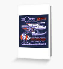 Zorg Z-F1 Greeting Card