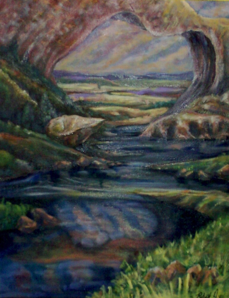 Natural Bridge (Oils)- by Robert Dye