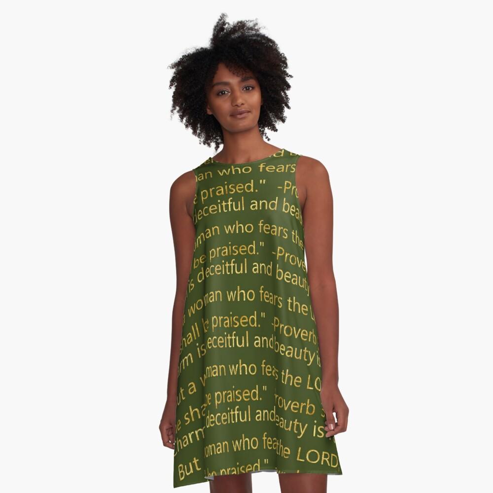 Scripture Proverb 31:30 A-Line Dress