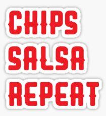 Chips Salsa Repeat Sticker
