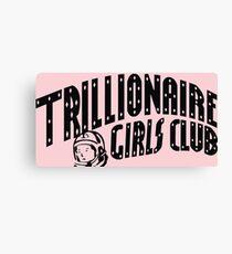 Trillionaire Girls Club (Pink) Canvas Print