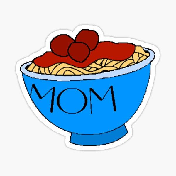 Espagueti de mamá Pegatina