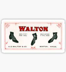 Vintage Walton Shoe Advertisement Sticker
