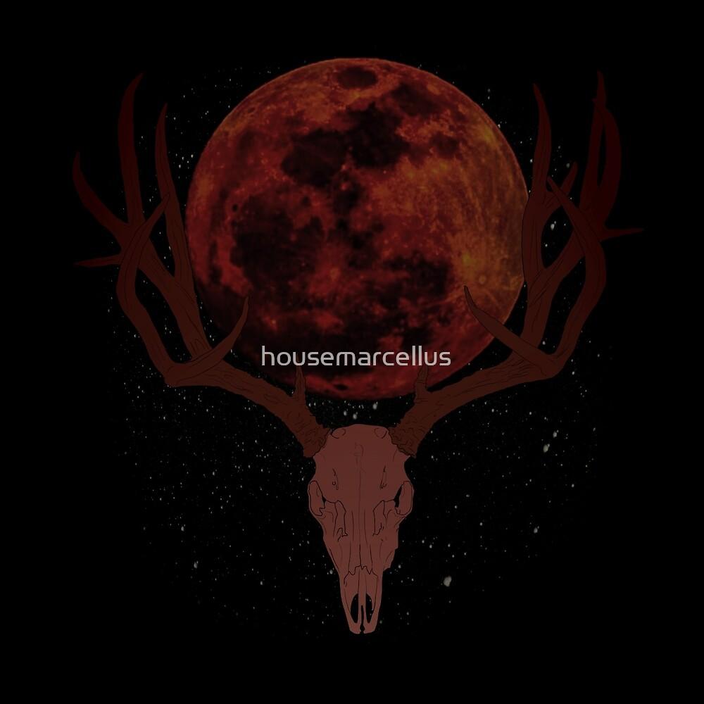 The Elder Scrolls Daedric INSPIRED Lunar Deer Skull by housemarcellus