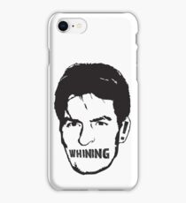 Charlie Sheen Whining iPhone Case/Skin
