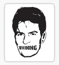 Charlie Sheen Whining Sticker
