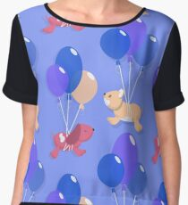 Dogs and balloons Chiffon Top