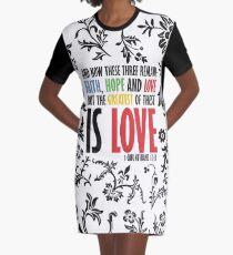 Faith Hope and Love Graphic T-Shirt Dress