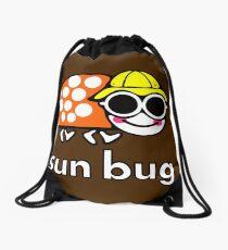VW Sun Bug (white text) Drawstring Bag