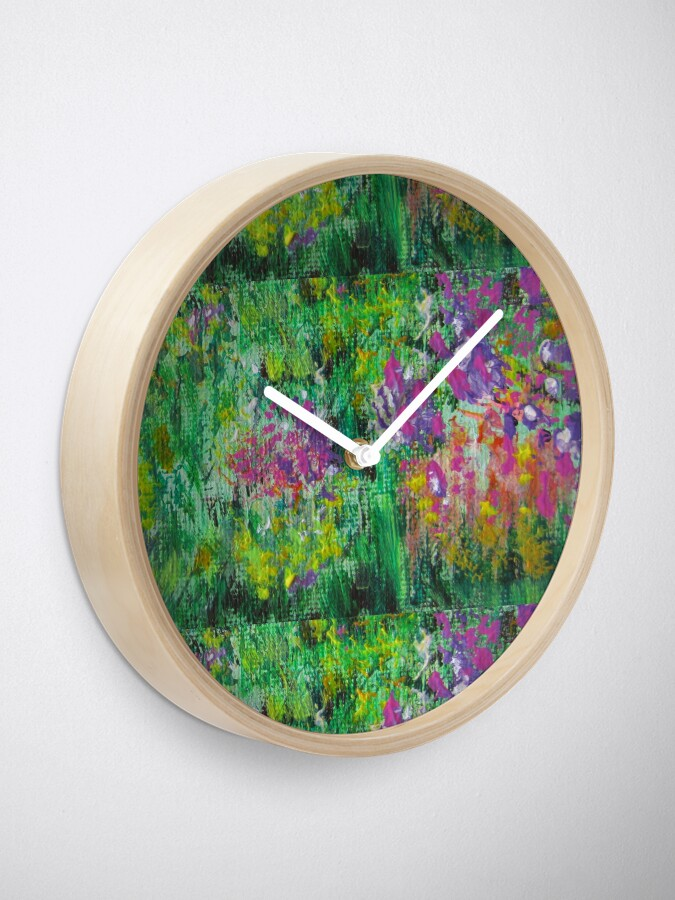 Alternate view of Floral sketch Clock