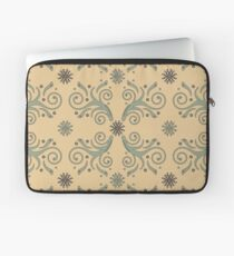 Flourishes & Flowers, straw and green Laptop Sleeve