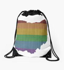 Ohio Rainbow Gay Pride Drawstring Bag