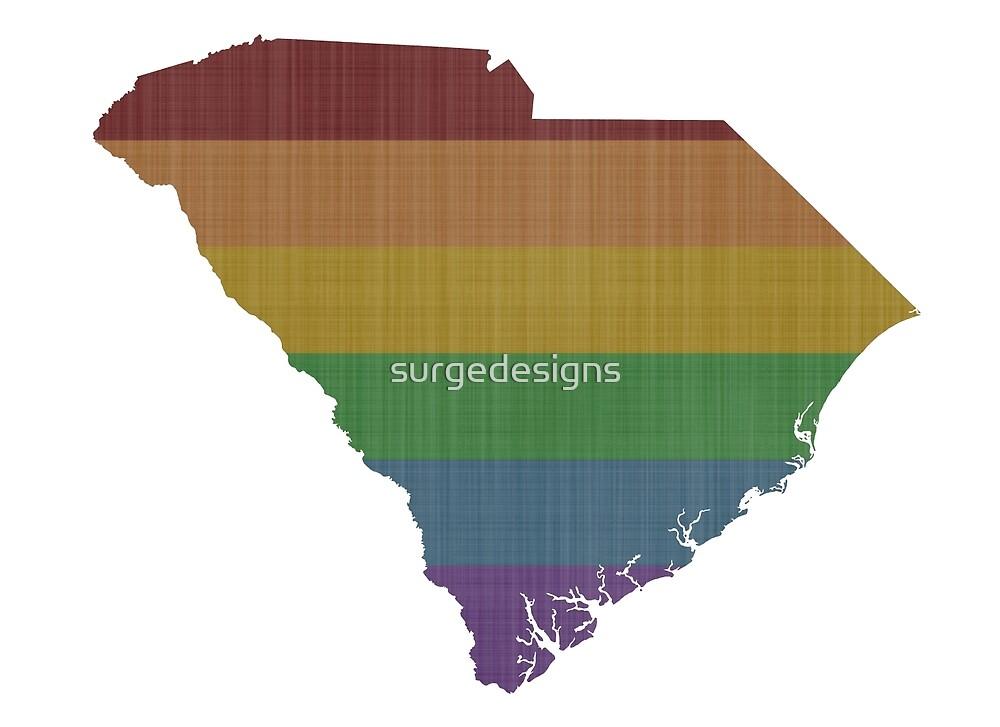 South Carolina Rainbow Gay Pride by surgedesigns