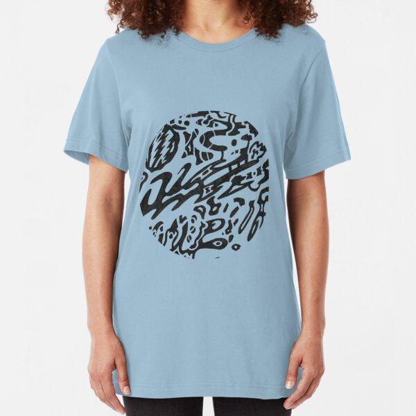 Midnight b&w circle Slim Fit T-Shirt