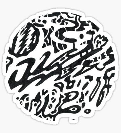 Midnight b&w circle Sticker