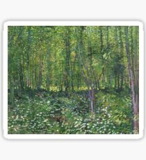 Van Gogh Trees and Undergrowth Painting, 1887 Sticker
