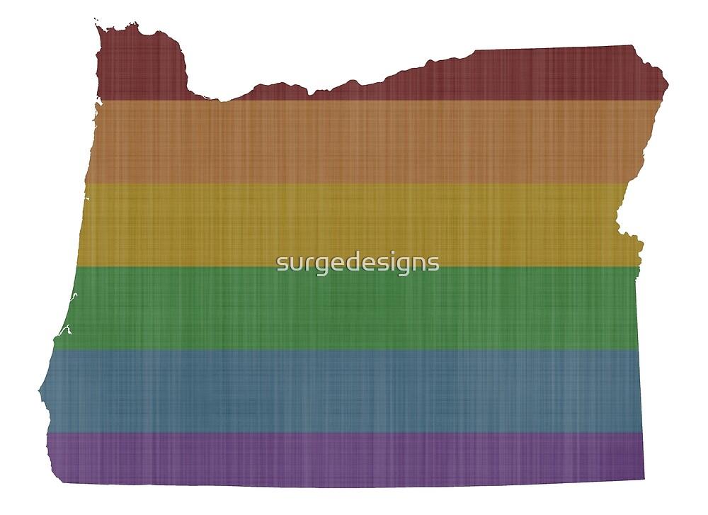 Oregon Rainbow Gay Pride by surgedesigns