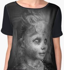 Creepy doll, Topaz. Creepy Bride Chiffon Top
