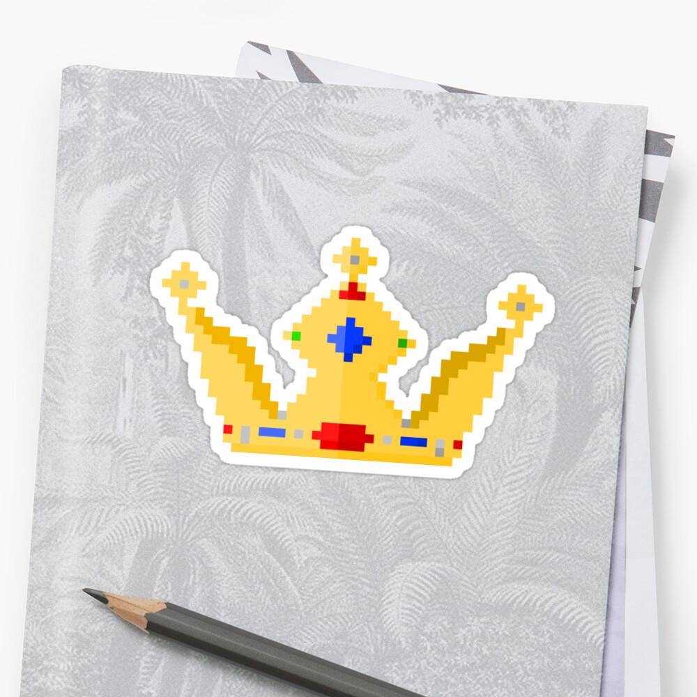 Gold Crown Pixel Art\