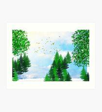 Summer Illustration Art Print