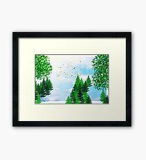 Summer Illustration Framed Print