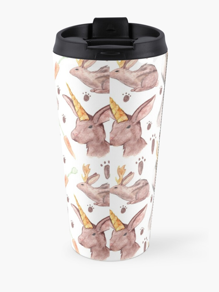 Alternate view of Mythical Rabbits  Travel Mug