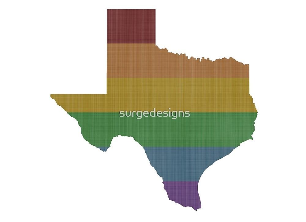 Texas Rainbow Gay Pride by surgedesigns