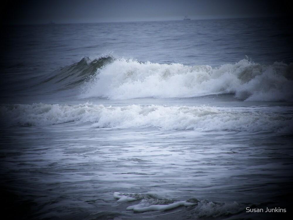 Waves Of The Atlanta Ocean Atlantic Beach Florida by Susan Junkins