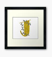 Gold J Monogram Framed Print