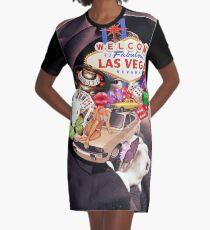 Las Vegas addicted Graphic T-Shirt Dress