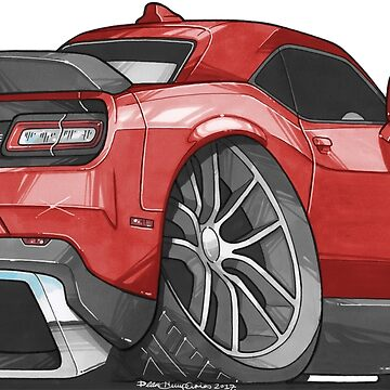 Dodge Challenger Caricature  by supercarshirts
