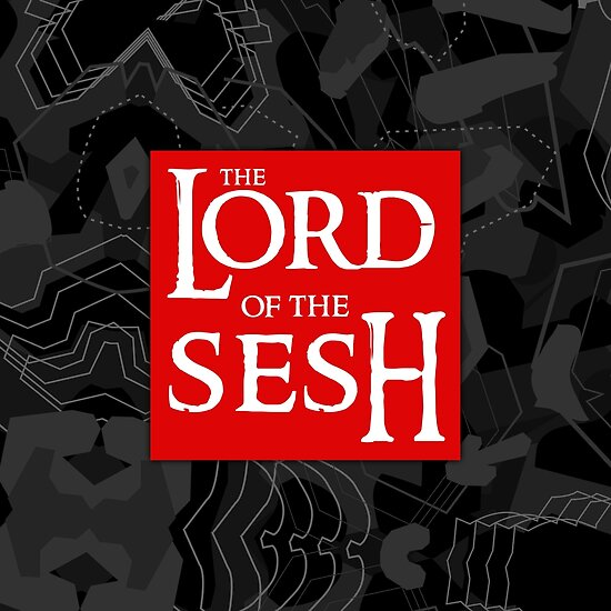The Lord Of The Sesh Red Box Logo V2 Poster By Wave Lords United