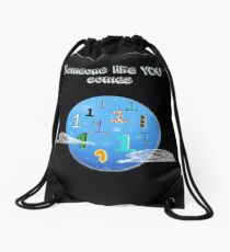 Ones in a Blue Moon  Drawstring Bag