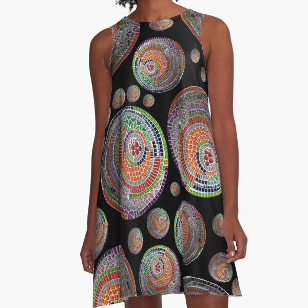 Abstract pattern of a mosaic bowl A-Line Dress