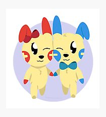Plusle and Minun Photographic Print