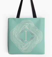1920s Blue Deco Swing with Monogram letter i Tote Bag