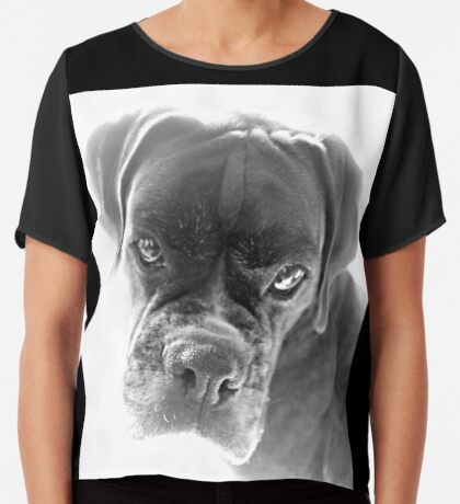 Sie sagen mir, dass ich nicht länger ein Welpe bin - Boxer Dogs Series Chiffontop für Frauen
