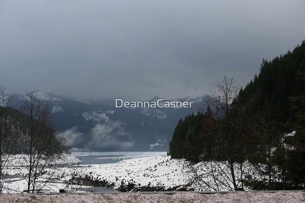 Detroit Lake winter by DeannaCasner