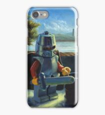 Lego knight with barrel painting iPhone Case/Skin