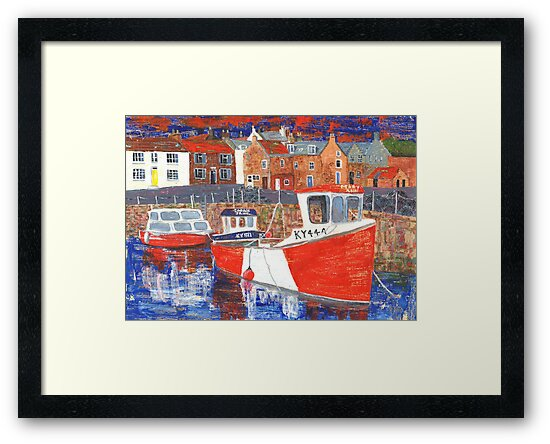 Crail Harbour 2 by Jan Palmer