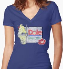 Dole Whip Float (DISTRESSED) Women's Fitted V-Neck T-Shirt