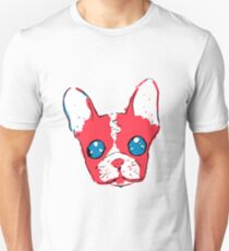 French bulldog anime eyes sketch with marker Unisex T-Shirt